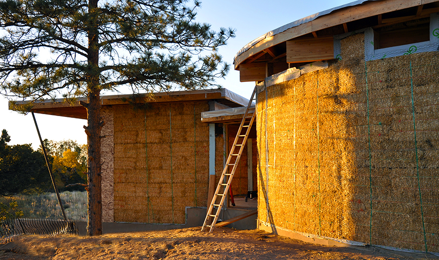 Strawbale Getaway Construction - Strawbale Infill | Gettliffe Architecture, Boulder, Colorado