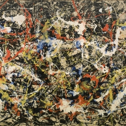 Jackson Pollock, Image property of the Albright-Knox Art Gallery