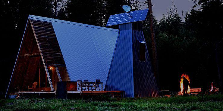 Modern rental no 9 modern in denver colorado 39 s design for Modern a frame cabin