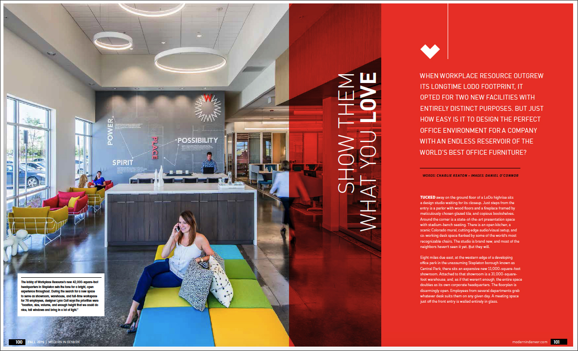 modern in denver colorado s design magazine fall issue out now workplaceresource