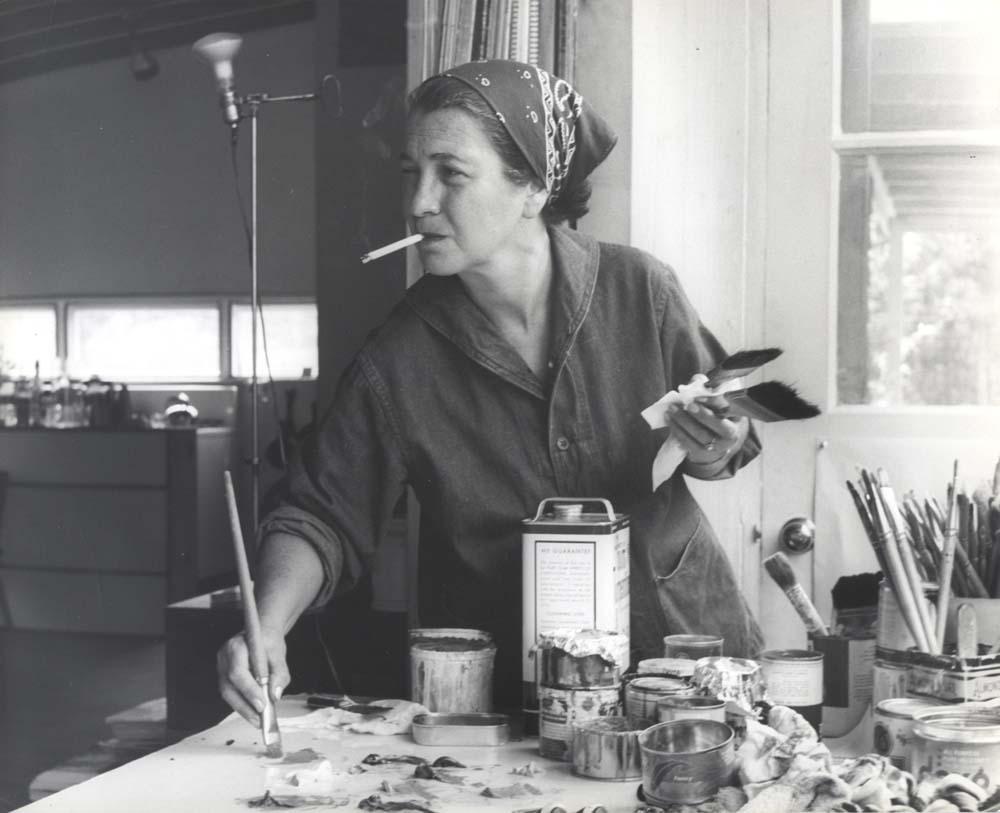 Perle Fine in studio, 1959