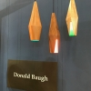 Donald Baugh wood pendants. We loved the idea of combining these with The Color Cord Company from Denver, who had a strong showing at ICFF.