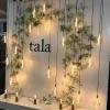 Tala showcased LED bulbs with the soft light of an Edison-style bulb.
