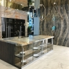 Antolini kitchens: Stone-clad, floor-to-ceiling kitchen cabinets.