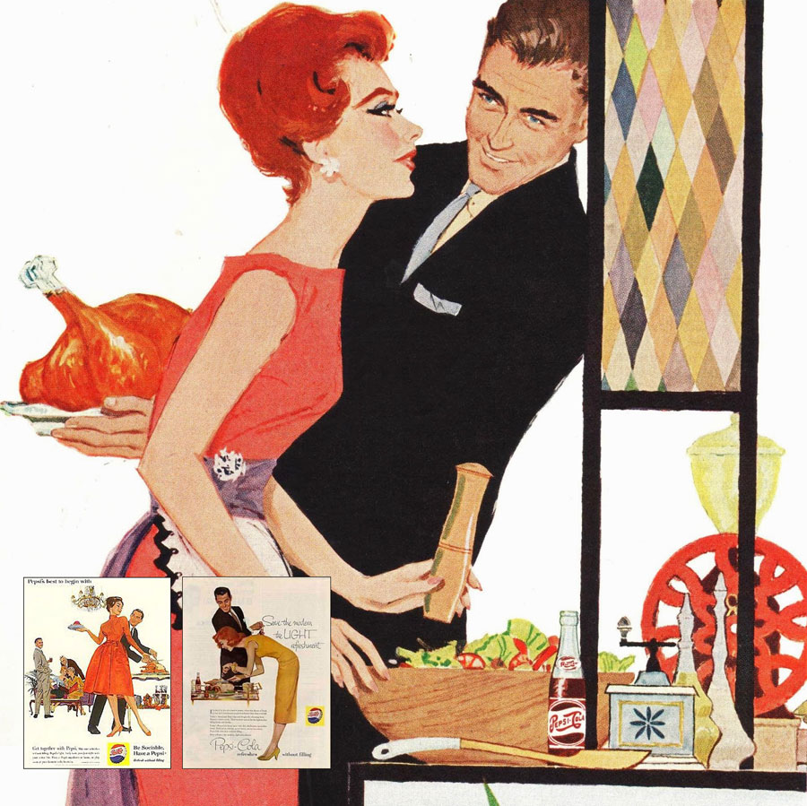At Modern In Denver We Love Vintage Shelter Magazines And Are Smitten By This Thanksgiving Ad Pepsi From The 1950s