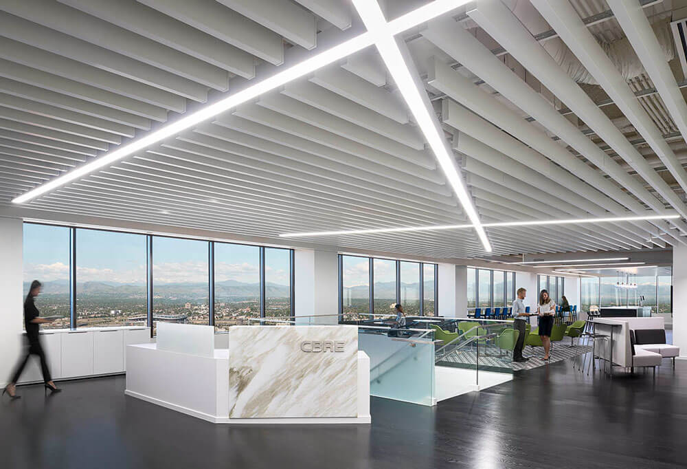 Modern Office Design Cbre S Exceptional View