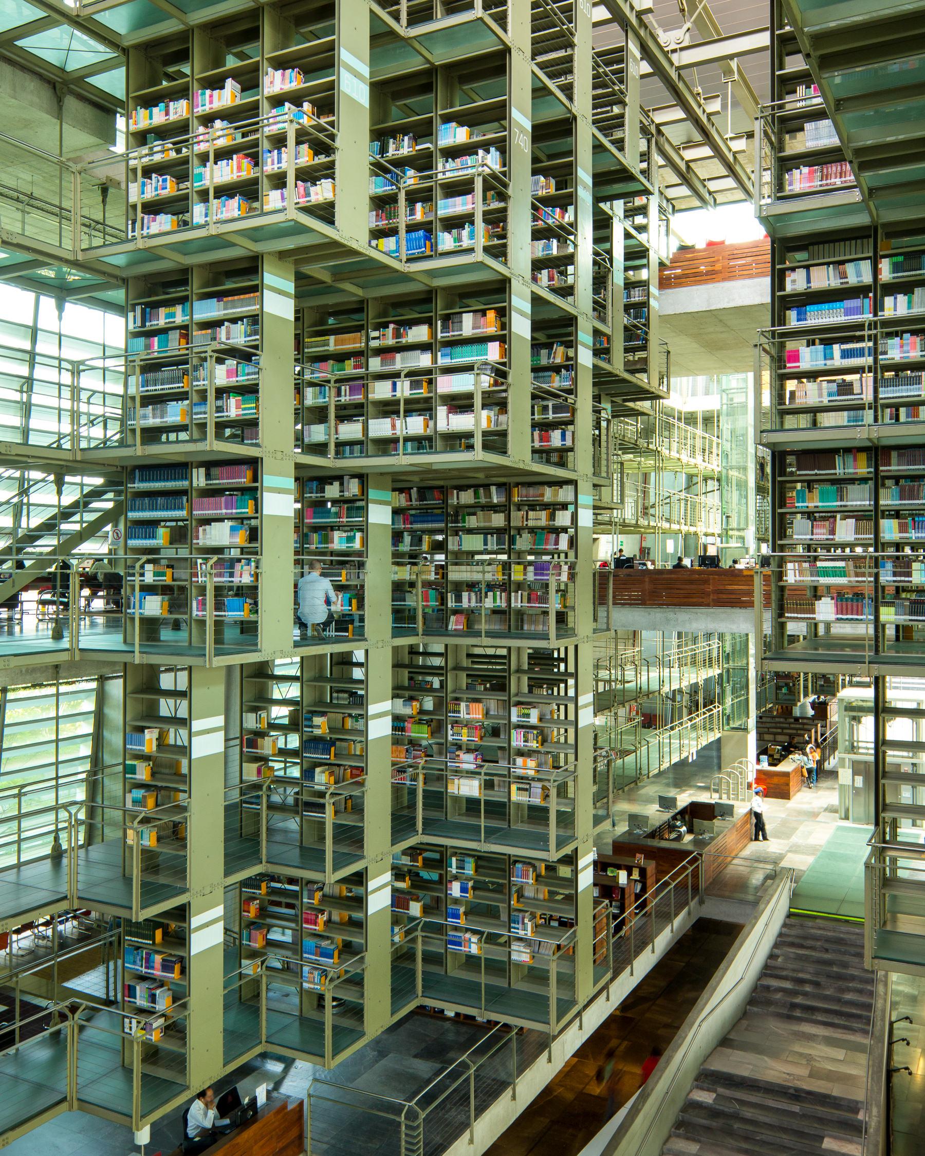 Modern Library Design Biblioteca Vasconcelos